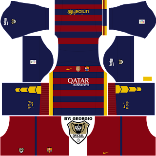 barcelona kit dls dream league soccer