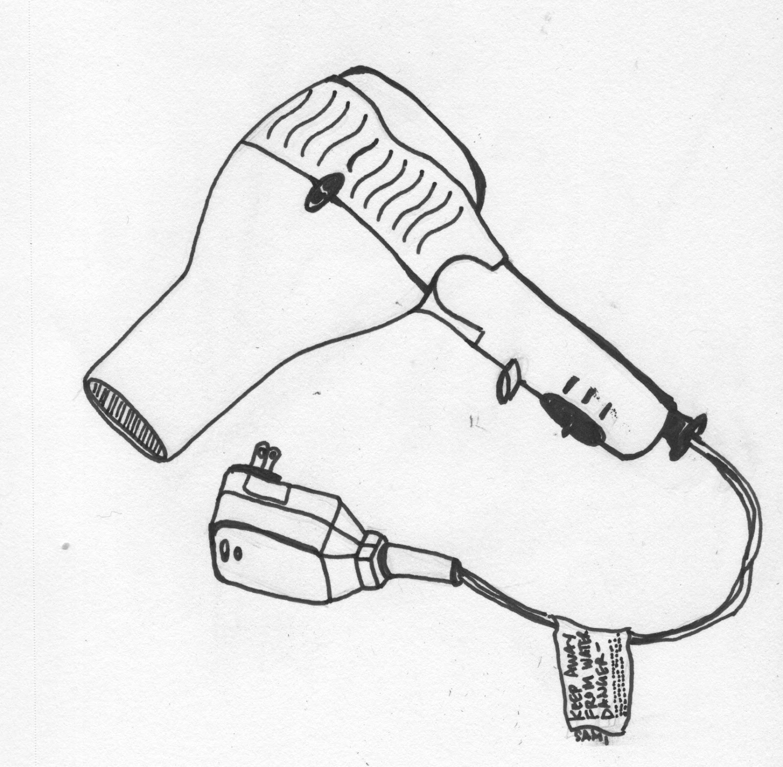 hair dryer coloring pages - photo #4