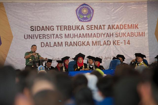 Foto : Panglima TNI Orasi Ilmiah di Sukabumi
