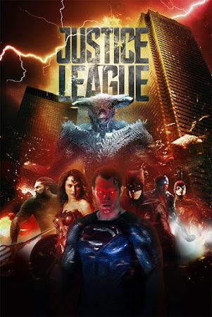 Poster Of Justice League 2017 In Hindi Bluray 480P Free Download