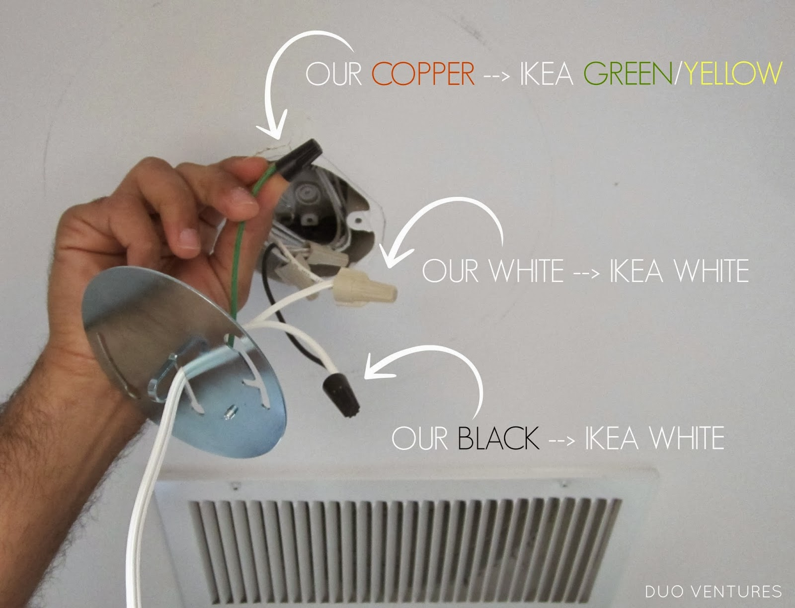 Duo Ventures How To Install Ikea Alang Ceiling Lamp Ac Wiring Lights
