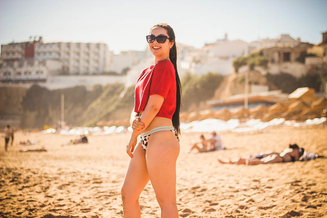 Albufeira, Portugal | Missguided Crop Top & Nasty Gal Bikini