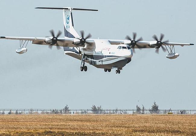 Tinuku Giant amphibious aircraft AG600 starts tests on water