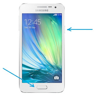 Screenshot di Smartphone Samsung Galaxy A3