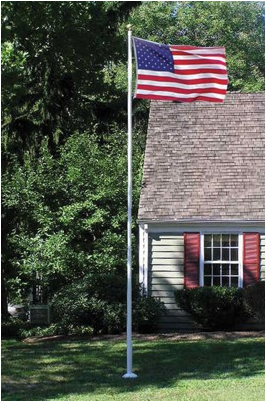 Amateur flagpole antennas