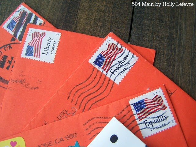 Cancelled stamps are a sign of sweet notes received.