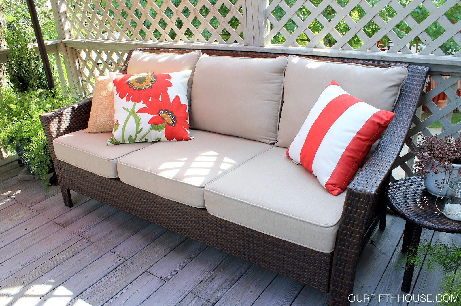 Outdoor living deck updates our fifth house for Summer patio furniture sale