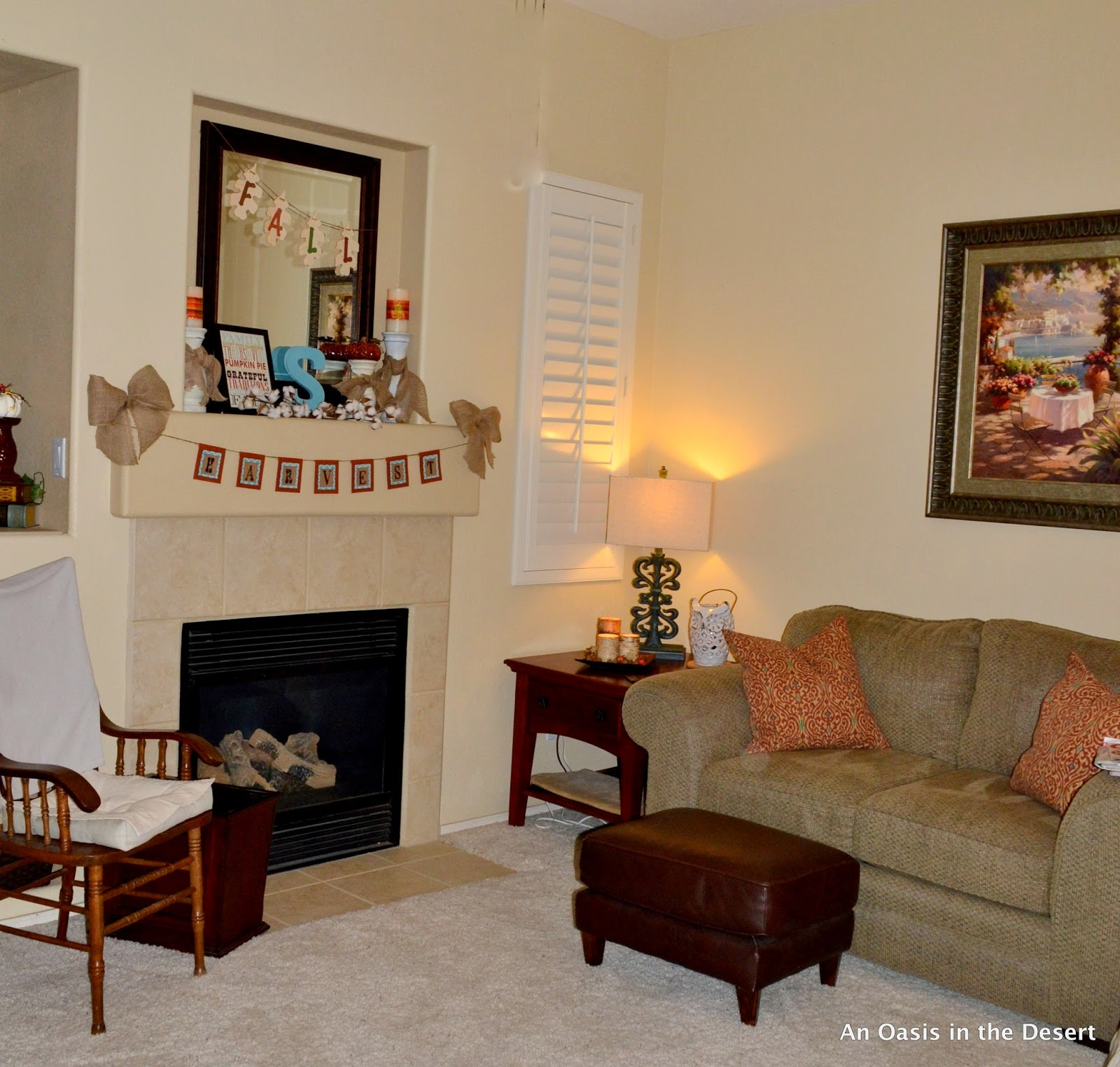 Hearth Room: An Oasis In The Desert: Fall In The Hearth Room