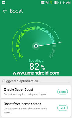 Membersihkan Memori HP Android Asus Dengan Mobile Manager