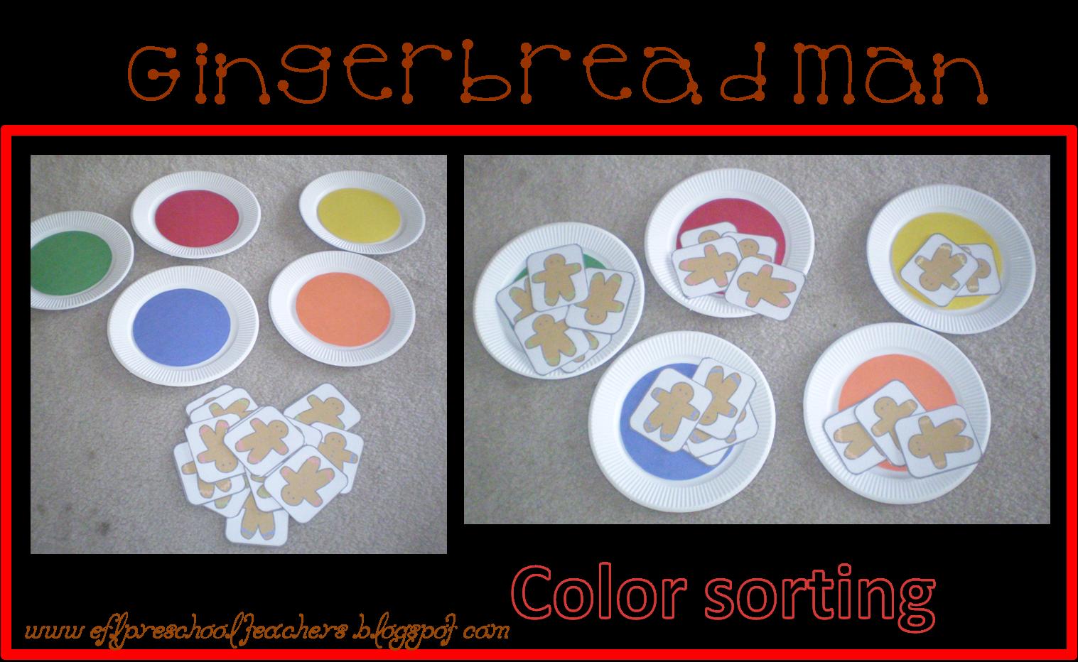 Esl Efl Preschool Teachers Gingerbread Man