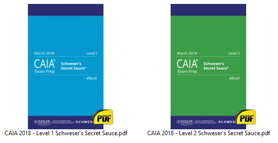 CAIA 2018 - S c h w e s e r Secret Sauce - Finance Exam