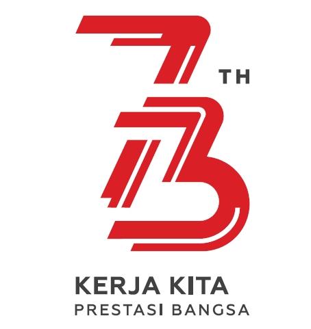 Logo HUT ke-73 Kemerdekaan RI Tahun 2018
