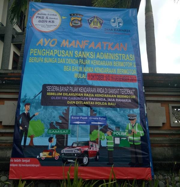 Penghapusan Denda Pajak Kendaraan Bermotor di Bali 2017