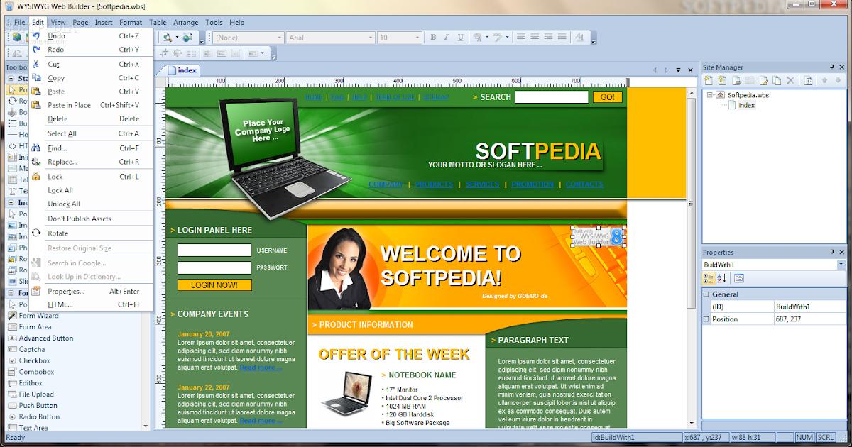 wysiwyg web builder 8 free download