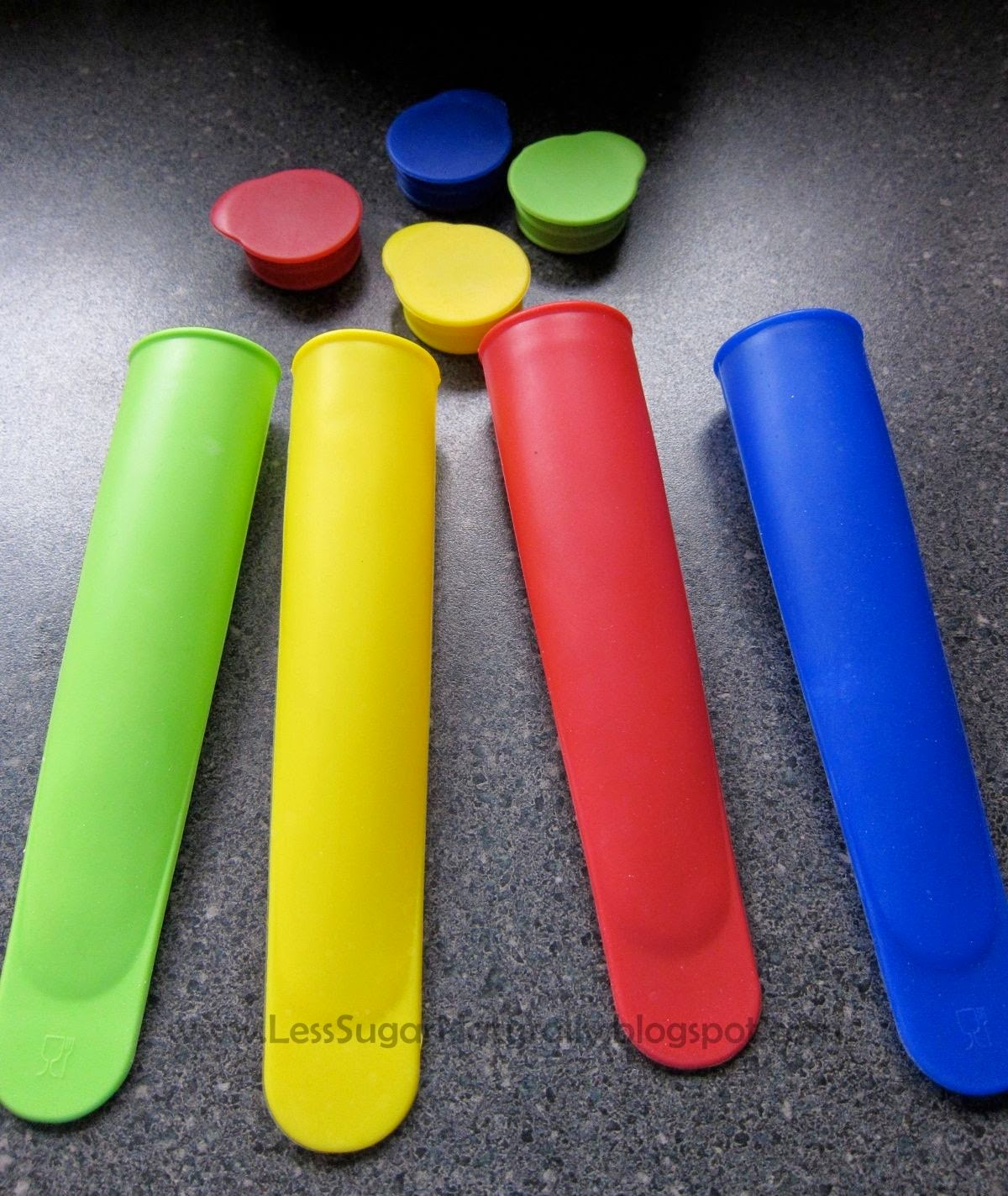 Low-sugar silicone popscicle molds