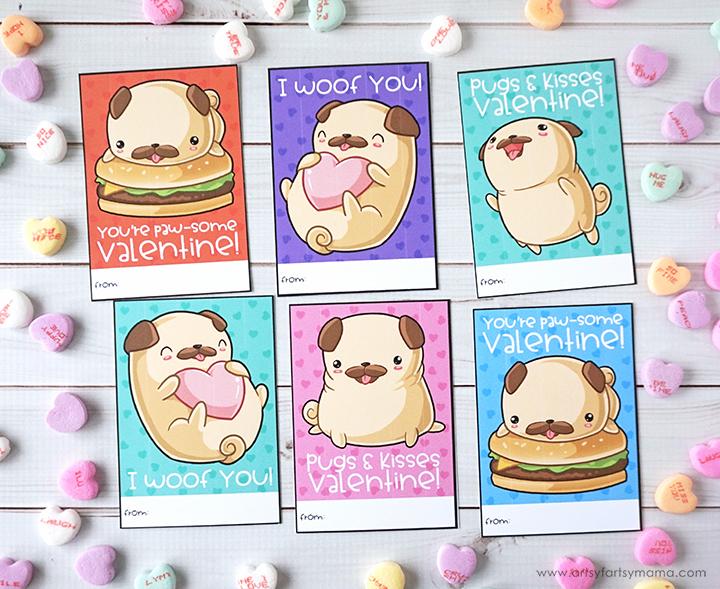 Free Printable Pug Valentines