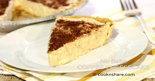 No Bake Coffee Cheesecake Recipe