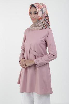 warna jilbab merah burgundy