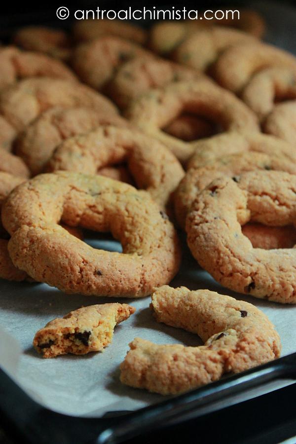 Ciambelline di Polenta e Gocce di Cioccolato