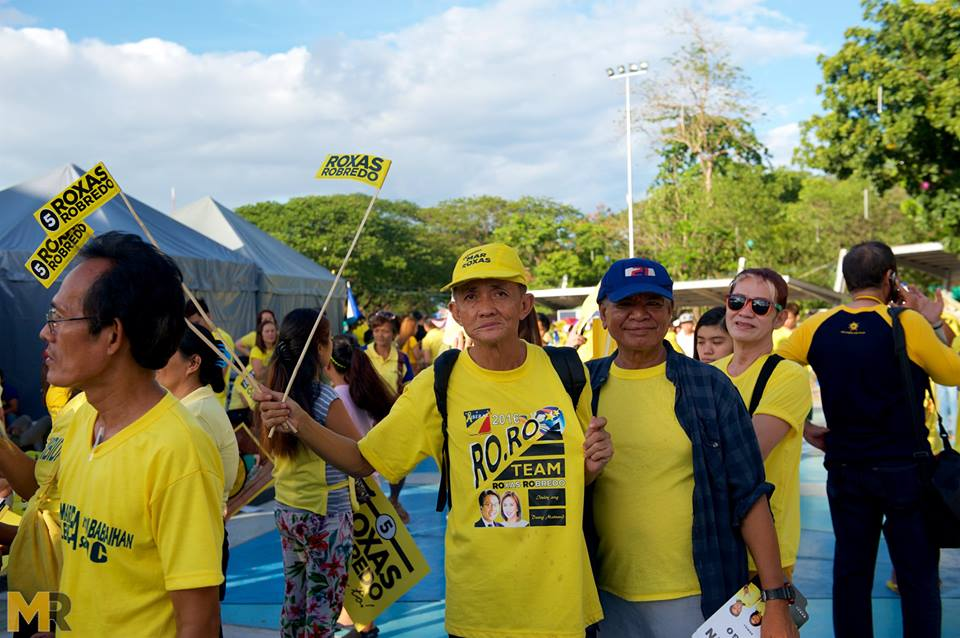 Mar Roxas grand rally Quezon Memorial Circle