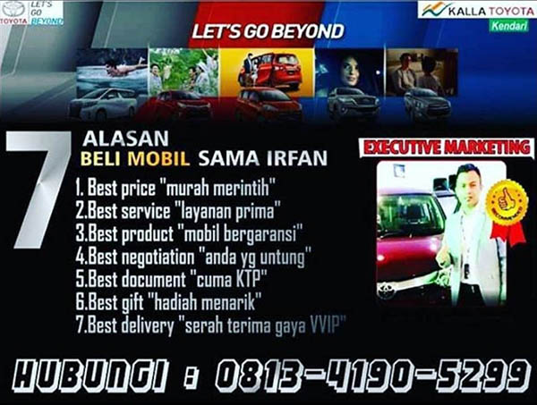 Rekomendasi Sales Toyota Kendari