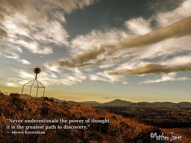 'Never underestimate the power of thought; it is the greatest path to discovery' - Idowu Koyenikan