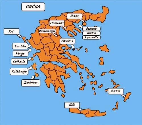 politicka karta grcke Leto politicka karta grcke