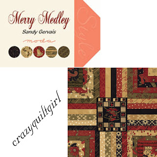 Moda MERRY MEDLEY Christmas Quilt Fabric by Sandy Gervais