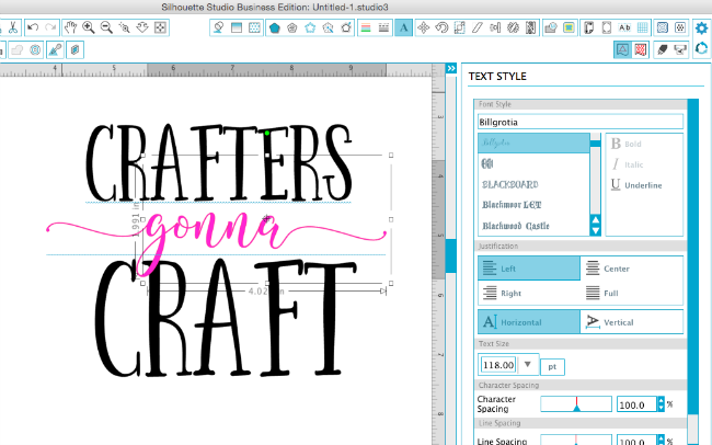 adding new fonts silhouette studio, silhouette studio tutorial, silhouette studio text style