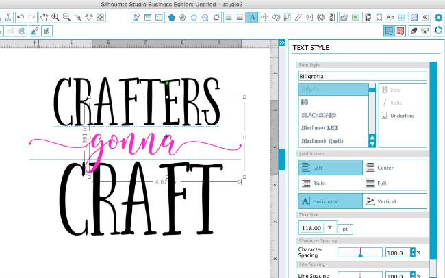 adding new fonts silhouette studio, silhouette studio tutorial, silhouette studio text style