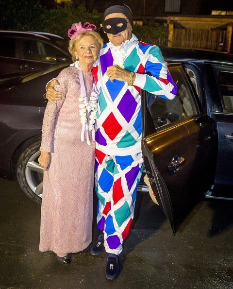 Queen and her spouse Prince Henrik attended the costume party held by their friend, ballet dancer Susanne Heering