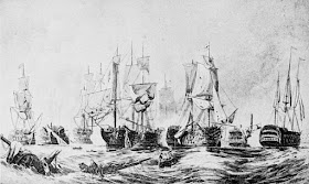 The Battle of Trafalgar from Horatio Nelson and the   Naval Supremacy of England by W Clark (1890)