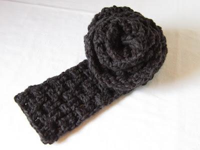 crochet, free patter, scarf, basket weave, double strand, Caron United