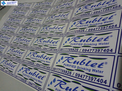 Vinyl Sticker Labels - Rublet Purified Drinking Water