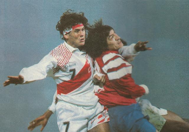 Chile y Perú en partido amistoso, 25 de mayo de 1994