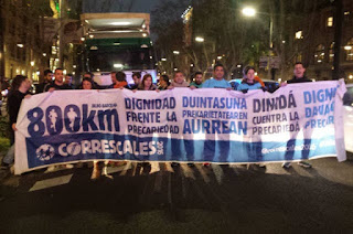 Una manifestación solidaria pone punto y seguido al Correscales