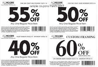 free AC Moore coupons march 2017