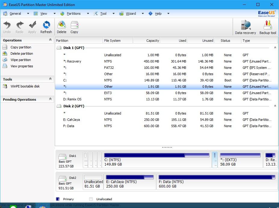 Perbedaan format Legacy dan UEFI, MBR dan GBT - Charis RI