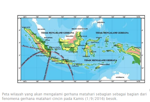 Tidak Ada Gerhana Matahari Cincin di Indonesia Besok, Ini Penjelasannya.