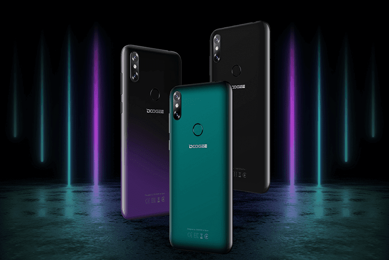 Emerald green, midnight black, and phantom purple color options