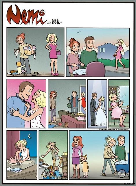 Lustige Comic Bilder Geschichten - Stress, Haushalt, Familie und Kinder