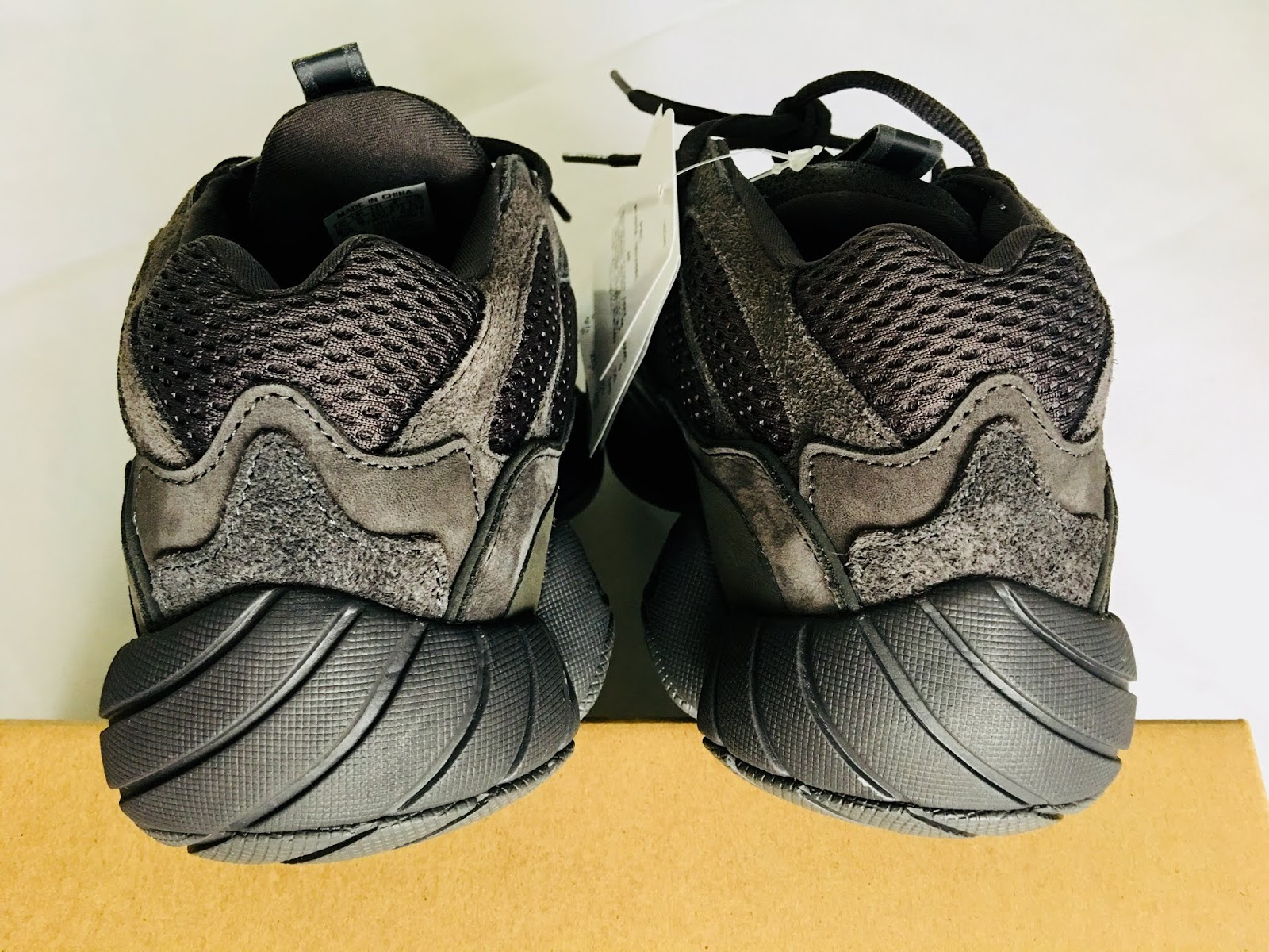 d3ae7796a35f3 Adidas Yeezy 500 Utility Black Sneakers