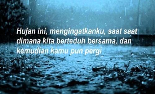 Caption Romantis Hujan