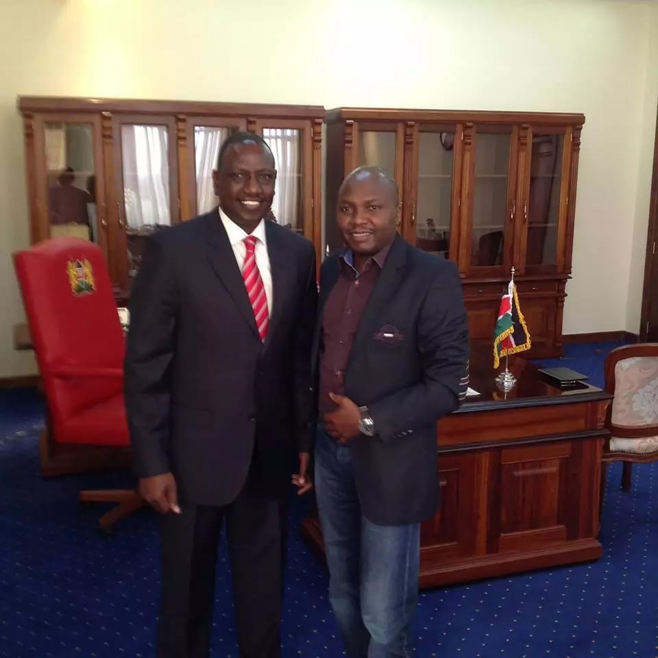 Donald Kipkorir With DP William Ruto
