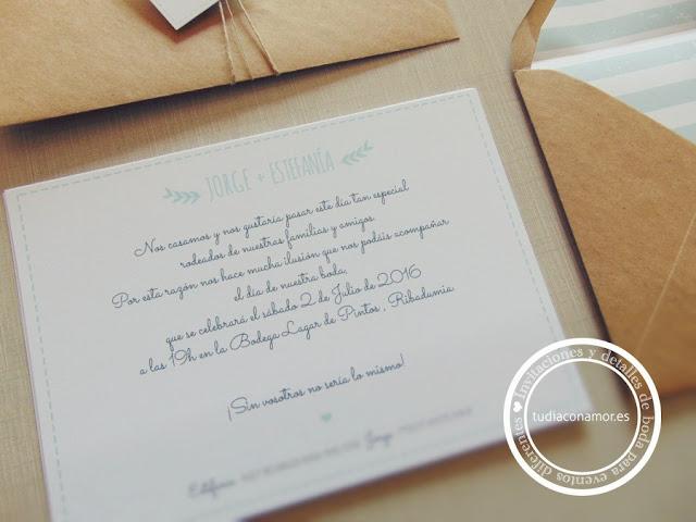 Conjunto papelería de boda en color mint