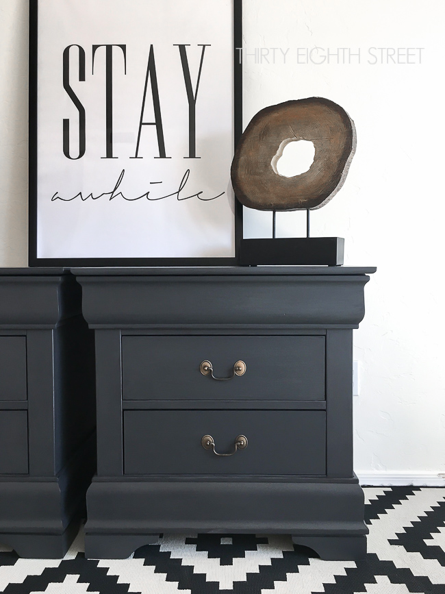 Pure & Original painted nightstands, Pure & Original furniture makeovers, second hand nightstands, how to refinish furniture