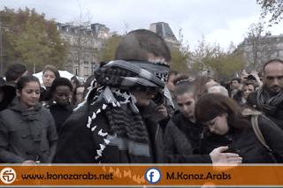 شاهد ماذا فعل هذا المسلم في أحد شوارع باريس بعد الإعتداءات !!