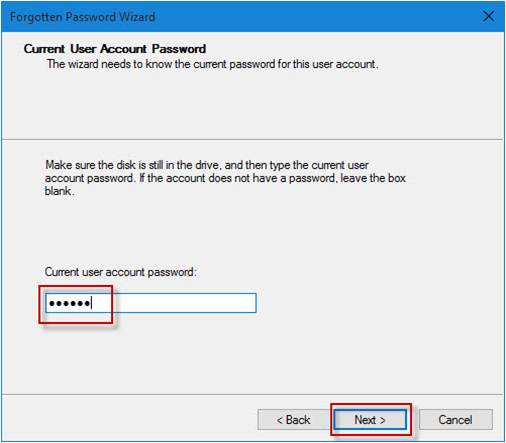 password reset disk windows 10 usb