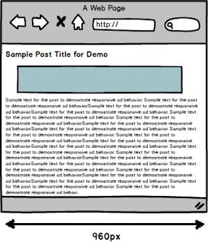 Single column site template sketch