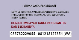 Repair Inverter, Variable Frequency Drive, Trafo Las, UPS, Card Mesin Pabrik, Fire Alarm